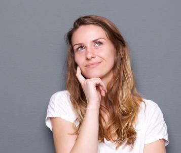 Young Woman Thinking PSV4V5B